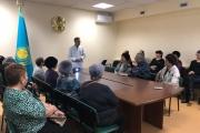 проведена встреча  заместителя директора Мусенова Ерлана Тастымбековича с населением, для ОСМС