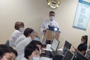 В «Городской поликлинике  №11» прошел отчет директора  Сагандыкова Ж.К . по итогам работы  поликлиники по достижению основных показателей  индикаторов